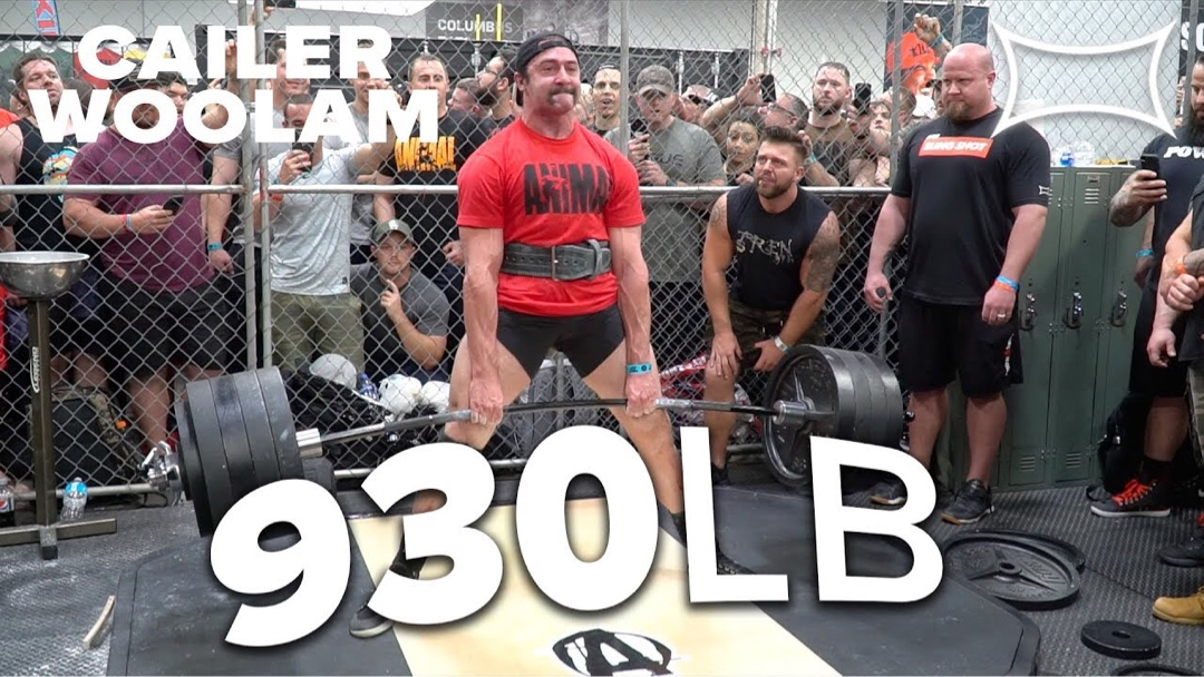 Minboso - Cailer Woolam Sets New Cage Record - 930lb Deadlift - YouTube